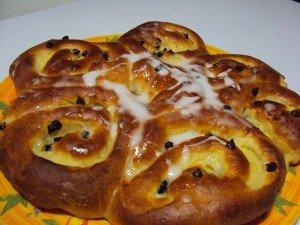 Chinois crème pâtissière et pépites de chocolat dans dessert dsc03279-300x225